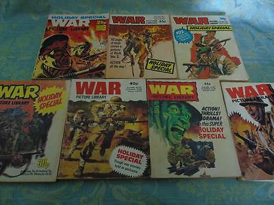 7 Vintage War Picture Library Comics Holiday Specials 1976- 1981 & 1983 Lot #7