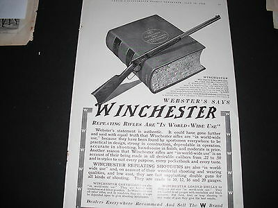 1913 Advertisement For Winchester's Repeating Tifles