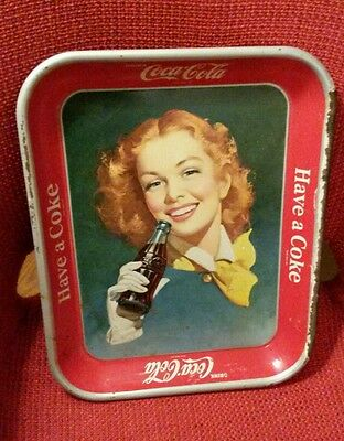1952 Coca-Cola Red Haired Girl Coke Tray