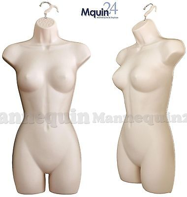 1 New Flesh Female Hanging Dress Body Form Mannequin Woman Clothing Display