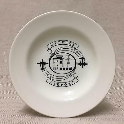 RARE GATWICK AIRPORT COMMEMORATIVE DISH BY WEDGWOOD 1950s STYLISED DESIGN