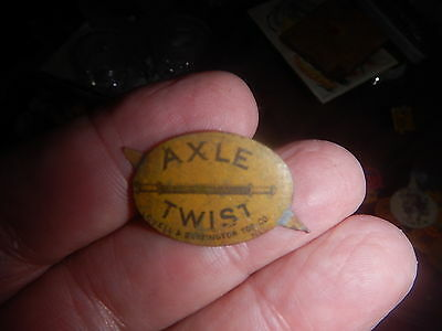 old tobacco pins or tags our collection Axle Twist