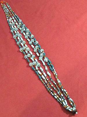 Glass Beaded Necklace Mixed