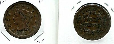 1851 Braided Hair Large Cent F Vf Cl 1279J