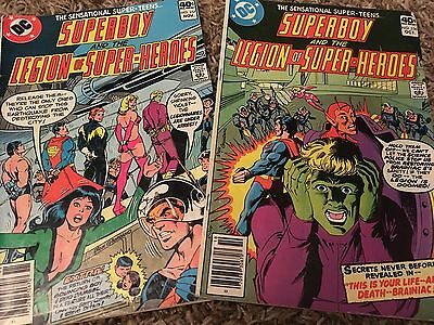 2 SUPERBOY and the legion of super-heroes COMIC BOOKS 1979 No 256 257