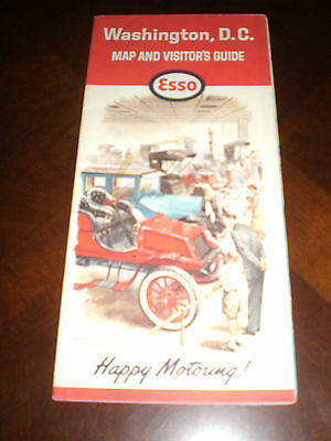 Vintage Washington, D.C. Map and Visitor's Guide (1964) - Esso - Beautiful Color