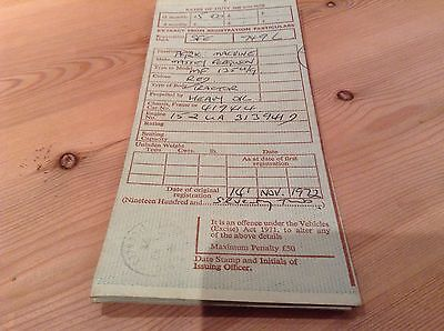 Massey Ferguson 135 Tractor old log book