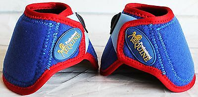 Horse Medium Professional Equine Sports Bell Boots USA Flag Patriotic 4115F