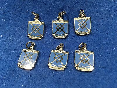 Lot of 6 1970's Vintage US Navy USS Eaton DD-510 Charms