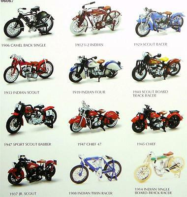 INDIAN MOTORCYCLES 1:32 SCALE COMPLETE SET by New-Ray Toys Die Cast, MIB