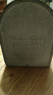 Vintage 1960's Chicago Heights Furnace Supply Co. Metal Rural Mailbox