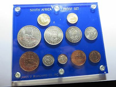 1954 South Africa Scarce Proof Set 11 Coins .35 Oz Gold /silver In Capital Plast