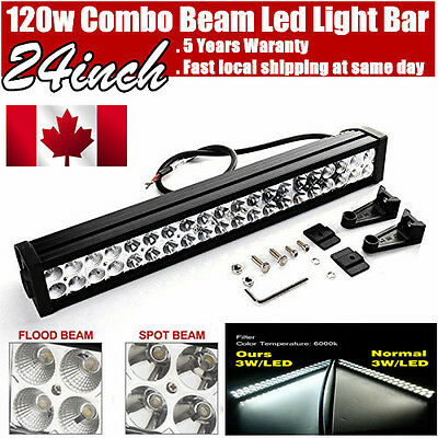 22inch 120w LED Light Bar Work Flood Spot Offroad Truck Jeep Driving SUV 20/24