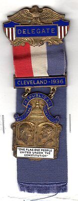 1936 Republican National Convention Delegate Badge