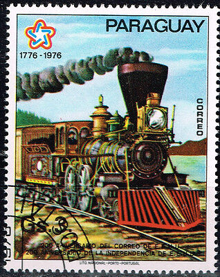 Paraguay Railroad old Locomotive Train stamp 1976