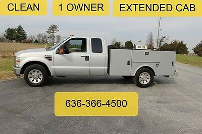2008 Ford F350 XLT Used Diesel Service Utility Work Extended Clean Auto 1 Owner