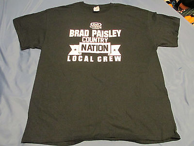 BRAD PAISLEY - 2015 Concert Tour  - Back Stage CREW T SHIRT - Adult SIZE XL