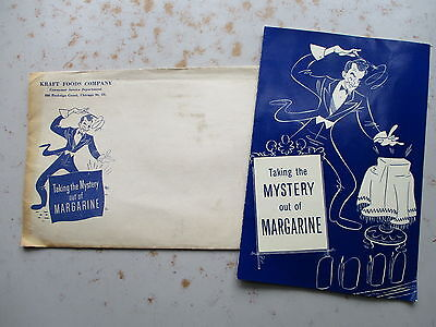 Taking The Mystery Out of Margerine - 1948 Craft Foods Booklet, Envelope