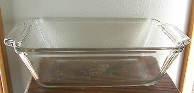 Vintage Anchor Ovenware Clear Glass Loaf Dish 1.5 Qt. Oven & Micro Safe #1041