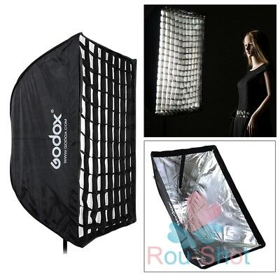 Godox 60x90cm Photography Umbrella Rectangle Softbox with Grid For SpeedLight UK