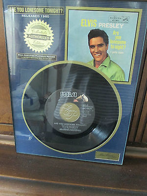 Riaa Certified Platinum Record Are You Lonesome Tonight Wall Hanging Elvis