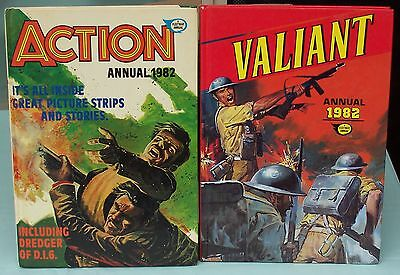 Valiant Annual & Action Annual c1982. A Fleetway Annual  Childrens Story Books