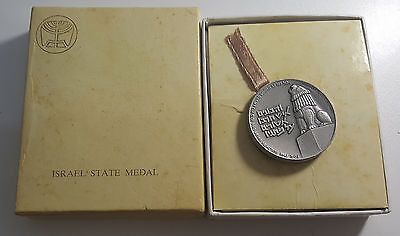 Israel Peace Be Within Thy Walls .935 Silver Medal in Official Case