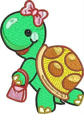 Terrific Turtle 10 Machine Embroidery Designs Cd 2 Sizes