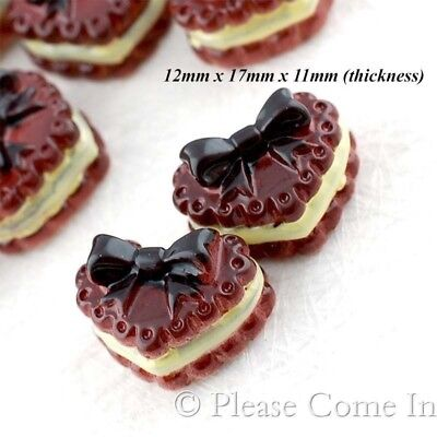 Kawaii Flat Back Resin Chocolate Cookie with Lemon Cream Cabochon Decoden Charm
