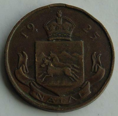 1925 Visit of Edward Prince of Wales to NATAL South Africa Medal, Bronze, worn