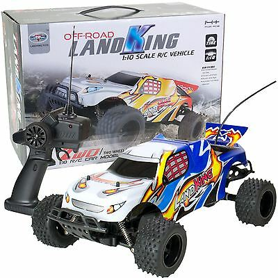 LandKing Radio Remote Control Off Road Racing RC Car Buggy Monster Truck - BLUE