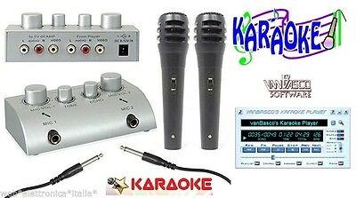 Karaoke Mixer+2 Microfoni per Karaoke Effetto Eco con Cd Software Van Basco
