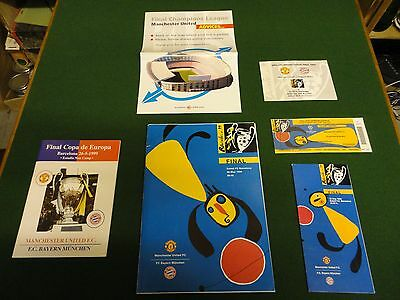 champions league final 1999 collection programme ticket and more