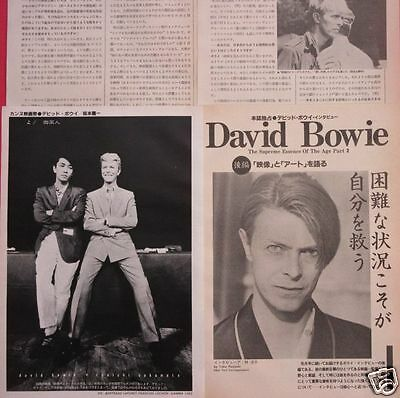 DAVID BOWIE RYUICHI SAKAMOTO Festival de Cannes 1983 CLIPPING JAPAN ML 7A 6PAGE