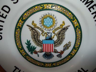 Vintage Plate United States of America The Great Seal President Marked Japan