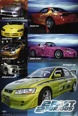 2 Fast 2 Furious - Autos, Collage - Film Movie Poster