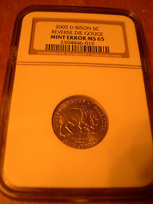 2005 D Speared Bison Ngc Ms65