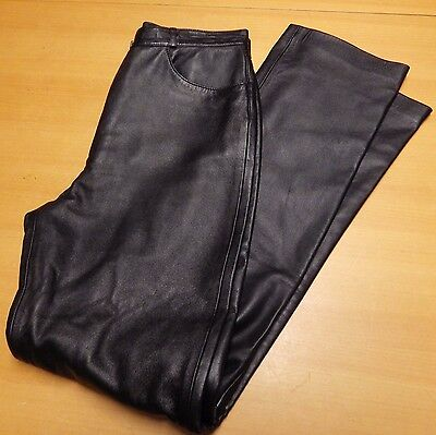 Gerry Weber Ladies Black Nappa Leather Trousers - UK Size 10