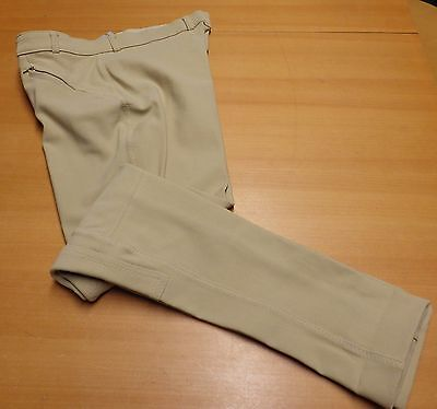 Harry Hall Mens Beige Self Strapping Riding Jodhpurs - Size 36 Regular - NWT