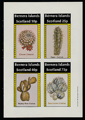 GB Locals - Bernera (1124) 1981 CACTI imperf sheetlet unmounted mint