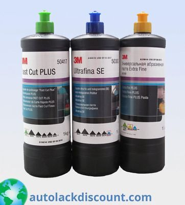 3M Polituren Set 50417 + 80349 + 50383 je 1 Liter