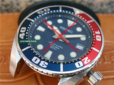 Blue Red Color Pepsi Bezel Replacement Insert For Scuba SBDC001 003 Sumo Parts