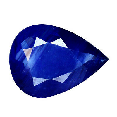 1.060Cts Top Stunning Blue Natural Sapphire Pear Loose Gemstones