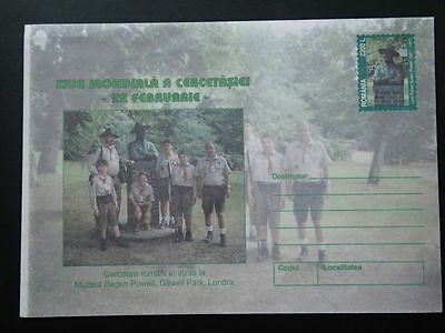 boy scout Baden Powell mint stationery Romania 65943