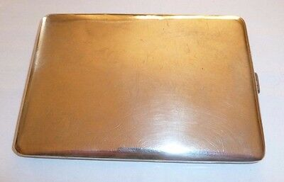 Sterling Silver Cigarette Case Art 144Grms
