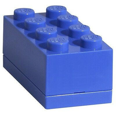 LEGO Brick Mini Box 8 BLUE Snack Food Container Storage Lunch Plastic