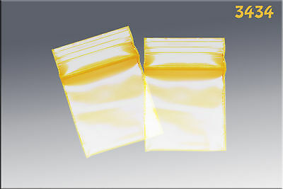 ZipLock baggies .34 x .34 (1000/pack) - Yellow
