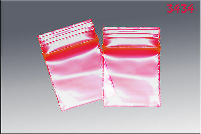 ZipLock baggies .34 x .34 (1000/pack) - Red