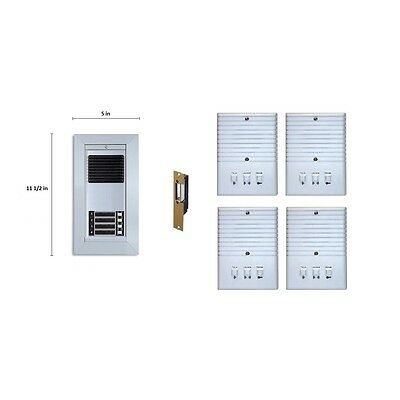 Apartment Entry System RETRO-SERIES Kit Door Bell Panel 4 Room