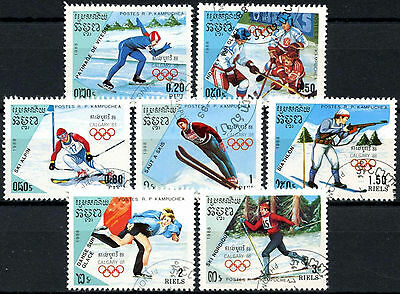 Kampuchea 1988 SG#864-870 Winter Olympic Games Cto Used Set #A84773